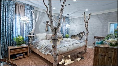 American Bedrooms, Forest Decorating Ideas Wolf Bedroom