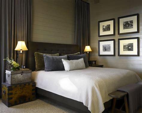 bedrooms gray tongue and groove walls gray drapes