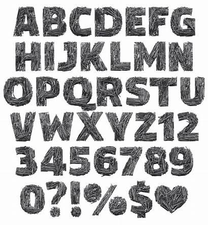 Font Nail Metal Fonts Any Alphabet Typeface