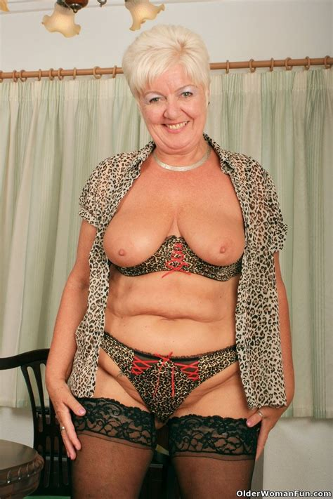 Grandma sandie in black stockings at Granny Sex Pics