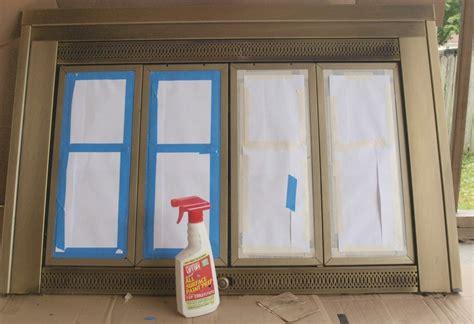 Fireplace Door Paint - diy painting fireplace doors daringroom escapes