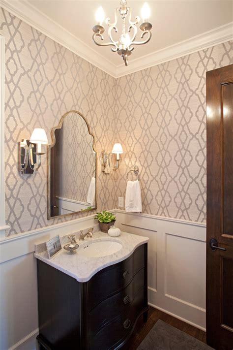 powder room wallpaper ideas bathroom farmhouse