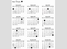 Calendario Lunare 2019 La Gravidanza