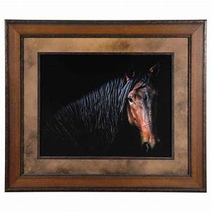 Horse, Portrait, Framed, Art