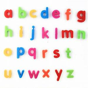 Alphabet magnets children promotion online shopping for for Fridge letters