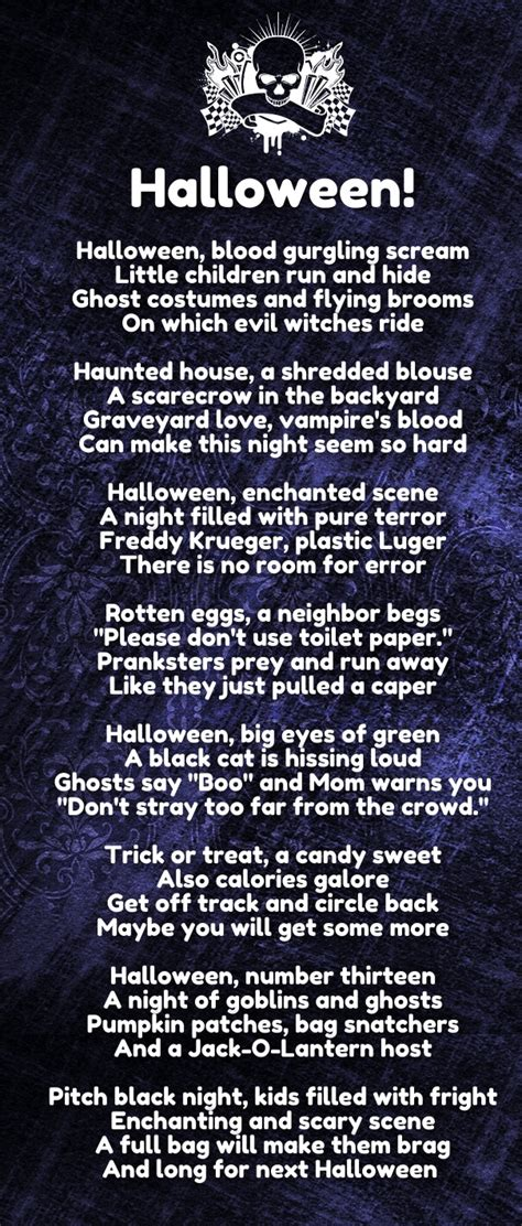 top  halloween love poems  rhyme  scary
