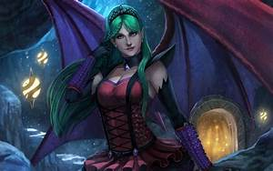 Fantasy, Art, Artwork, Vampire, Evil, Dark, Angel, Succubus, Girl, Girls, Women, Woman, Female