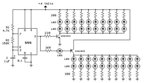 Led Flasher Circuit Using Steps