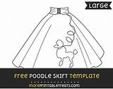 Poodle Skirt Template 50s Templates Moreprintabletreats Skirts Multiple Sizes Them sketch template