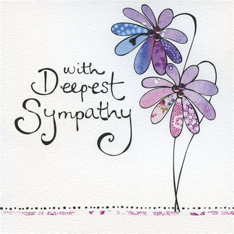 hand finished  deepest sympathy card deepest