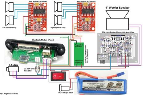 Portable Speaker Wiring Diagram by Pam8403 Lifier Circuit Diagram Search