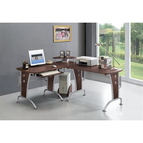techni mobili l shaped computer desk mahogany 17 best ideas about computer workstation on