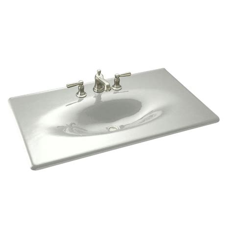 home depot sink tops kohler ceramic impressions 25 in vitreous china vanity