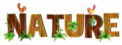 Word Nature Font Vector Illustration Graphics Clipart