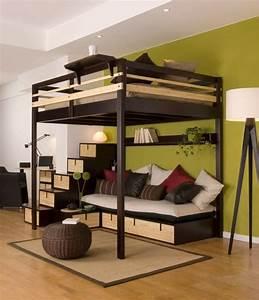 Lit mezzanine un choix pratique confortable et moderne for Idee deco cuisine avec lit king size
