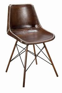 Chaise Vintage Cuir : chaises en cuir marron style vintage pour hotellerie doris ~ Teatrodelosmanantiales.com Idées de Décoration