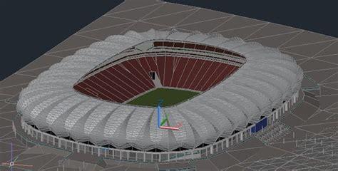 autocad drawings stadium  stadium   work