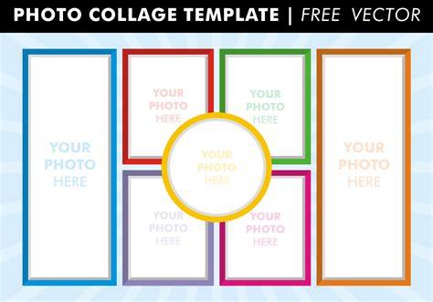 photo collage templates  vector   vector