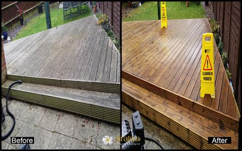 cleaning decking with uk decking cleaning araliya professional cleaning ltd in