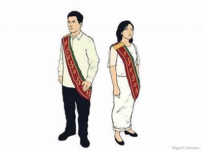 Sablay University Barong Tagalog Office Graduation Drawing