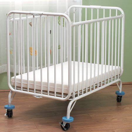 baby beds at walmart l a baby deluxe metal folding crib walmart