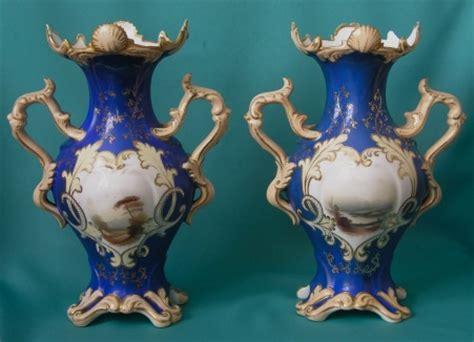 pair  english porcelain vases