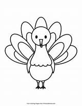 Thanksgiving Turkey Simple Coloring Pdf Pages Primarygames Printable Pilgrim Coloringpages Holidays sketch template