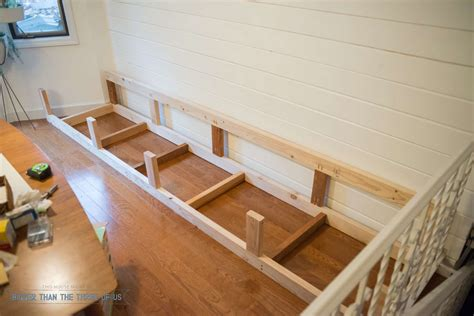 Plans For Building Kitchen Banquette Seating - built in banquette tutorial bigger than the three of us