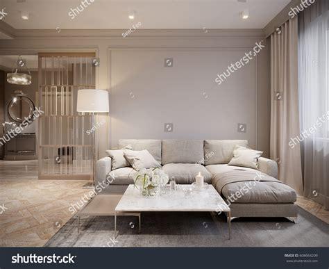 Wohnzimmer Modern Beige by Modern Beige Gray Living Room Interior Stock Illustration