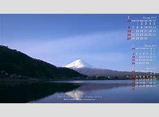 2019年1月のカレンダー壁紙1920x1080:富士山2 無料ワイド高画質壁紙館
