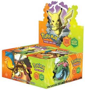pokemon leaf green fire booster packs p 1234