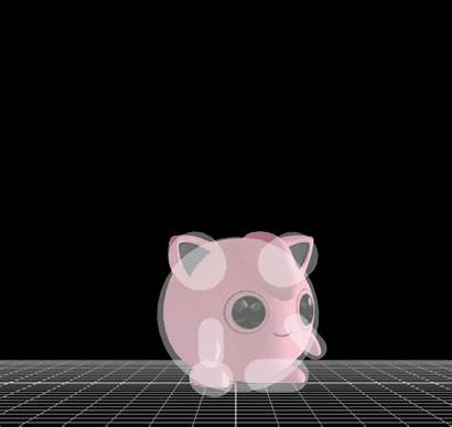 Jigglypuff Smash Ssb4 Hitbox Visualization Showing