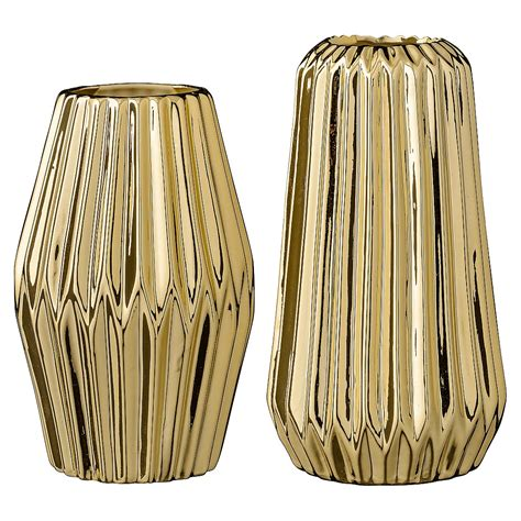 Gold Vases by Gold Geometric Vases Set Of 2 Audenza