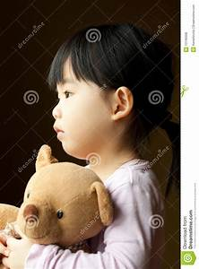 Sad Little Girl With Teddy Bear Royalty Free Stock Photos ...