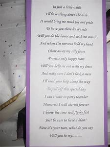 knot your average wedding be my maid diy With asking maid of honor letter