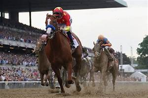 Justify triumphs in Belmont Stakes to win the Triple Crown ...