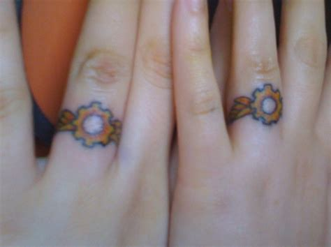 steunk wedding ring tattoos by veririaa