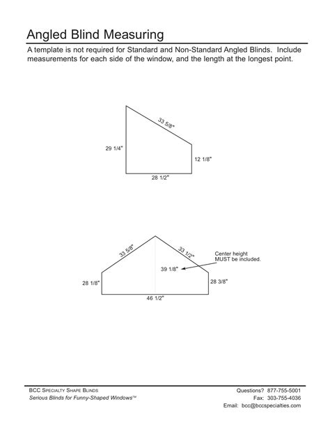 :: Measure & Template Instructions