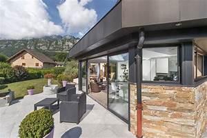 extension toiture plate a doussard avec cusine integree en With extension maison en l 18 sas dentree