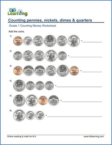 counting coins worksheets homeschooldressage