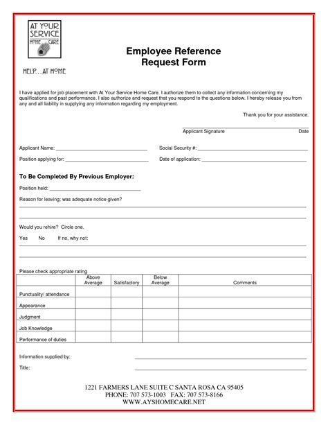 Ideas Of Employment Reference Request Form Template Uk