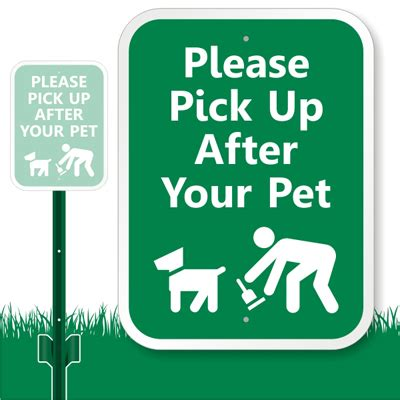 pick up after your pet sign lawnboss sign stake kit