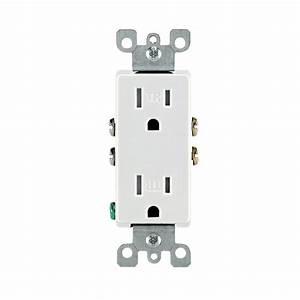 Prise 20 Ampere : leviton decora 15 amp tamper resistant duplex outlet ~ Premium-room.com Idées de Décoration