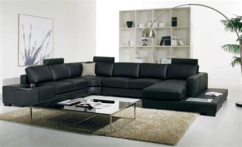 canapé système rapido aliexpress com buy black leather sofa modern large size