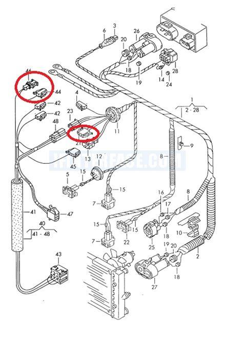 vw b4 instalacja elektryczna układu klimatyzacji manualnej