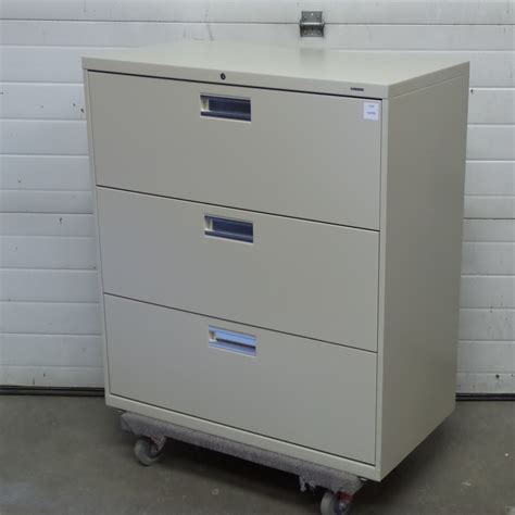 Hon Filing Cabinet Lock Install by Hon Beige 3 Drawer Lateral File Cabinet Locking Allsold