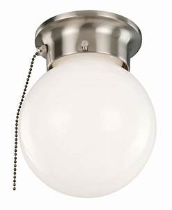 Outdoor ceiling light with pull chain : Design house light ceiling mount globe with