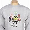 BAIT x SpongeBob Group Crewneck (grey heather)