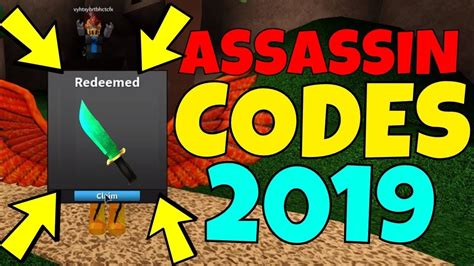 roblox assassin  codes september  youtube