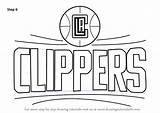Clippers Nba Draw Drawing Angeles Step Coloring Lakers Template Tutorials Sketch Aikatsu Tutorial Wizards Washington sketch template